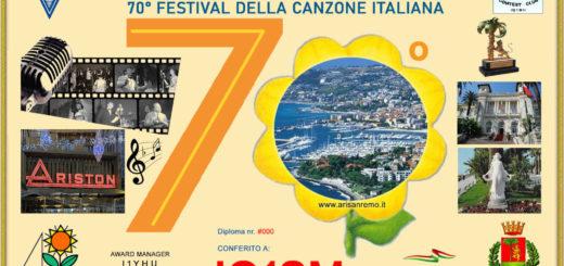 Diploma 70 Festival Canzone Sanremo