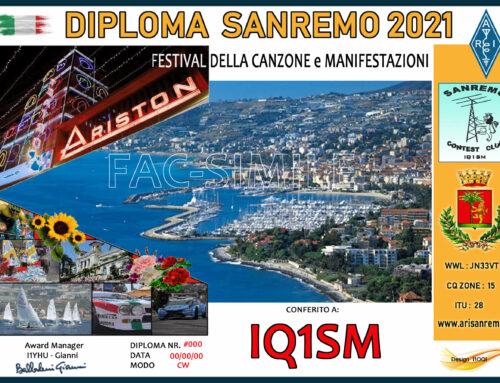 Diploma Sanremo 2021